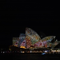 Opera House during Vivid