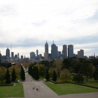Outlook from the top of Shrine of Remembrance
